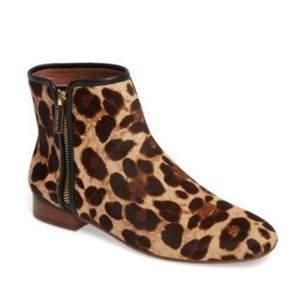 Louise Et Cie YASMIN leopard calf hair booties